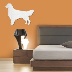 Espelho Decorativo Golden Retriever