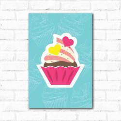 Placa Decorativa Cup Cake