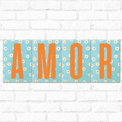 Placa Decorativa Kit Grande Amor
